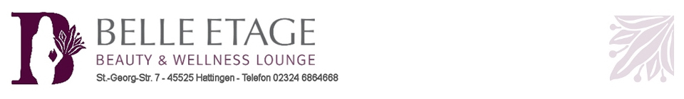 BELLE ETAGE Beauty & Wellness Lounge, St. Georg-Str.7, 45525 Hattingen, Tel. 02324 6864668
